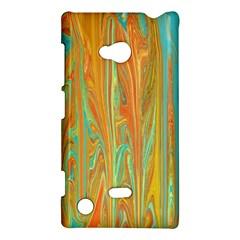 Beautiful Abstract In Orange, Aqua, Gold Nokia Lumia 720