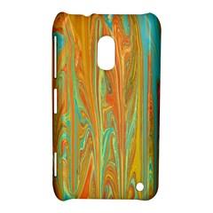 Beautiful Abstract in Orange, Aqua, Gold Nokia Lumia 620