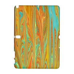 Beautiful Abstract in Orange, Aqua, Gold Samsung Galaxy Note 10.1 (P600) Hardshell Case