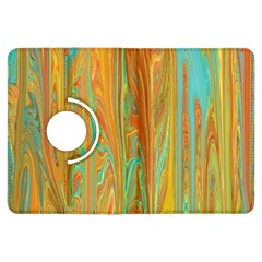 Beautiful Abstract in Orange, Aqua, Gold Kindle Fire HDX Flip 360 Case