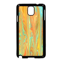 Beautiful Abstract in Orange, Aqua, Gold Samsung Galaxy Note 3 Neo Hardshell Case (Black)