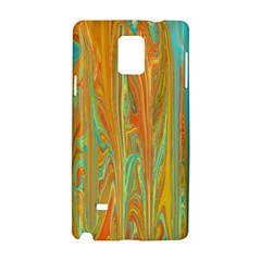 Beautiful Abstract In Orange, Aqua, Gold Samsung Galaxy Note 4 Hardshell Case
