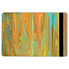 Beautiful Abstract In Orange, Aqua, Gold Ipad Air 2 Flip