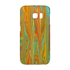 Beautiful Abstract In Orange, Aqua, Gold Galaxy S6 Edge