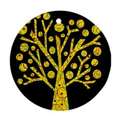 Yellow magical tree Ornament (Round)