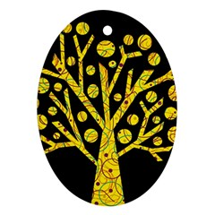 Yellow magical tree Ornament (Oval)