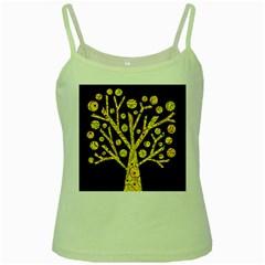 Yellow magical tree Green Spaghetti Tank