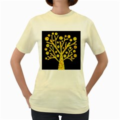 Yellow magical tree Women s Yellow T-Shirt
