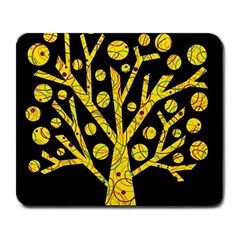 Yellow magical tree Large Mousepads