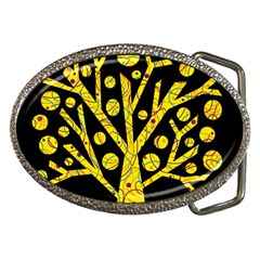 Yellow magical tree Belt Buckles