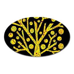 Yellow magical tree Oval Magnet