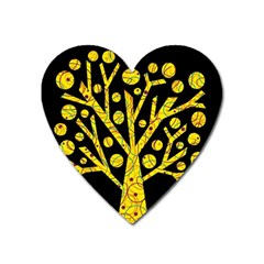 Yellow magical tree Heart Magnet