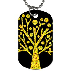 Yellow magical tree Dog Tag (Two Sides)