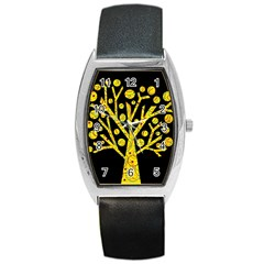 Yellow magical tree Barrel Style Metal Watch