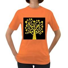 Yellow magical tree Women s Dark T-Shirt