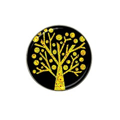 Yellow magical tree Hat Clip Ball Marker