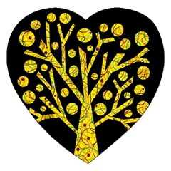 Yellow magical tree Jigsaw Puzzle (Heart)