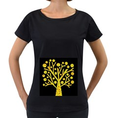 Yellow magical tree Women s Loose-Fit T-Shirt (Black)
