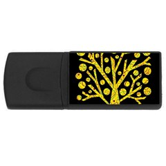 Yellow magical tree USB Flash Drive Rectangular (4 GB)