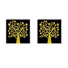 Yellow magical tree Cufflinks (Square)