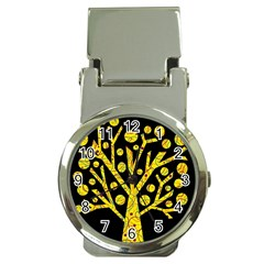 Yellow magical tree Money Clip Watches