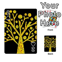 Yellow magical tree Playing Cards 54 Designs