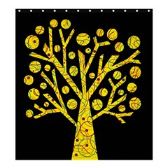 Yellow magical tree Shower Curtain 66  x 72  (Large)