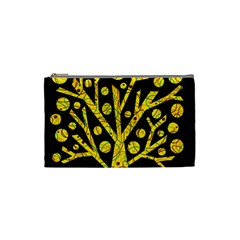 Yellow magical tree Cosmetic Bag (Small)