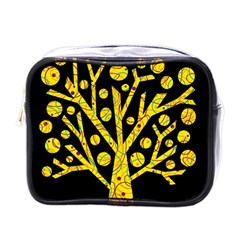 Yellow magical tree Mini Toiletries Bags