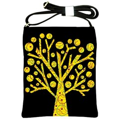 Yellow magical tree Shoulder Sling Bags