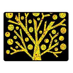 Yellow magical tree Fleece Blanket (Small)