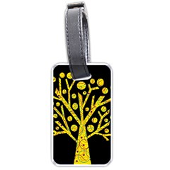 Yellow magical tree Luggage Tags (One Side)