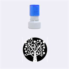 Yellow magical tree Rubber Round Stamps (Small)