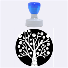 Yellow magical tree Rubber Round Stamps (Large)