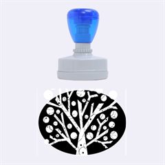 Yellow Magical Tree Rubber Oval Stamps