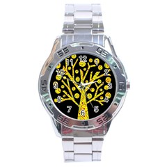 Yellow magical tree Stainless Steel Analogue Watch