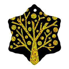 Yellow magical tree Ornament (Snowflake)