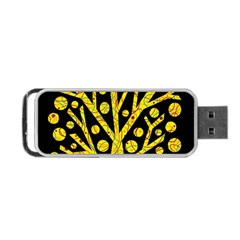 Yellow magical tree Portable USB Flash (One Side)