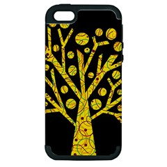 Yellow magical tree Apple iPhone 5 Hardshell Case (PC+Silicone)