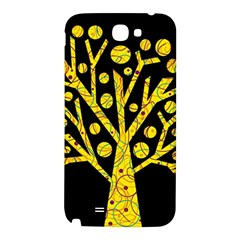 Yellow magical tree Samsung Note 2 N7100 Hardshell Back Case