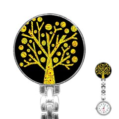 Yellow magical tree Stainless Steel Nurses Watch