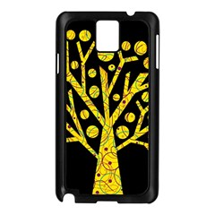 Yellow magical tree Samsung Galaxy Note 3 N9005 Case (Black)