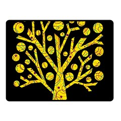Yellow magical tree Double Sided Fleece Blanket (Small)