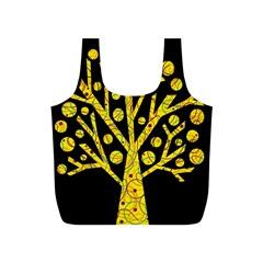 Yellow magical tree Full Print Recycle Bags (S)