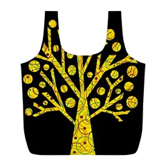 Yellow magical tree Full Print Recycle Bags (L)
