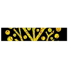 Yellow magical tree Flano Scarf (Small)