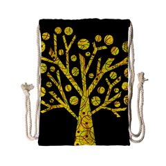 Yellow magical tree Drawstring Bag (Small)