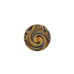 Gold Blue And Red Swirl Pattern 1  Mini Magnets