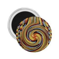 Gold Blue and Red Swirl Pattern 2.25  Magnets