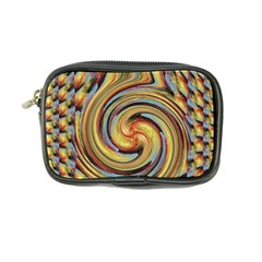 Gold Blue and Red Swirl Pattern Coin Purse